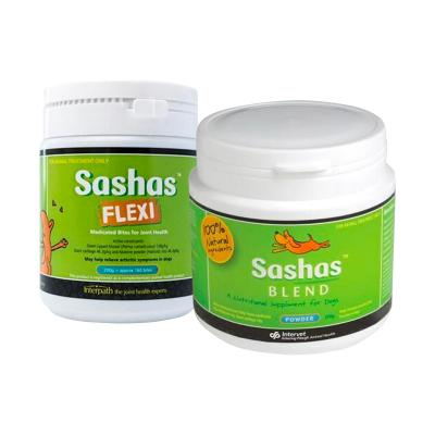Sashas Blend Flexi Chews For Joint Health 200gm And Joint Health Powder For Dogs 250gm