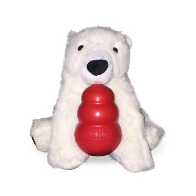 KONG Classic Play It Forward Christmas Polar Bear Large Toy For Dogs