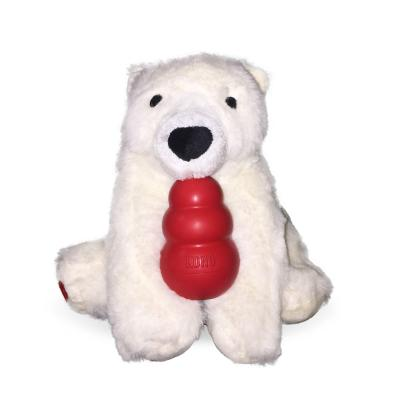 KONG Classic Play It Forward Christmas Polar Bear Medium Toy For Dogs
