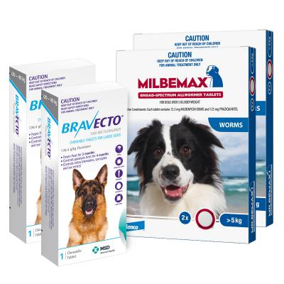 Bravecto Chew & Milbemax Allwormer Bundle For Dogs 25-40kg