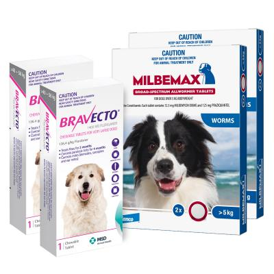 Bravecto Chew & Milbemax Allwormer Bundle For Dogs 40-50kg