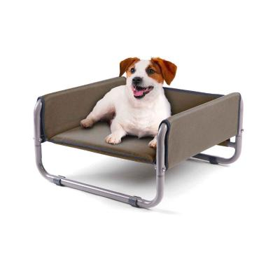 Kazoo WindShield Deluxe Raised Bed Cappuccino Small For Cats And Dogs