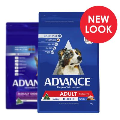 Advance All Breed Turkey Adult Dry Dog Food 3kg