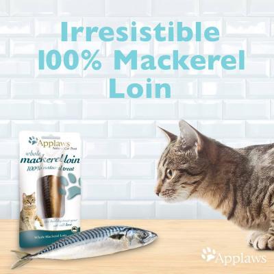 Applaws Whole Mackerel Loin Treats For Cats 30g x 18