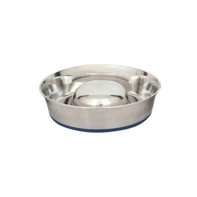 DuraPet Slow Feed Stainless Steel Pet Bowl Small 880ml For Dogs
