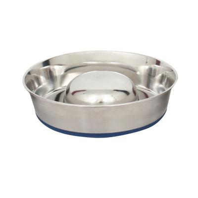 DuraPet Slow Feed Stainless Steel Pet Bowl Medium 1.7L For Dogs