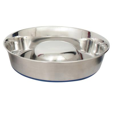 DuraPet Slow Feed Stainless Steel Pet Bowl Large 2.6L For Dogs