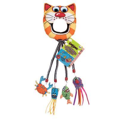 Fat Cat Catfisher Doorknob Hanger Catnip Toy For Cats