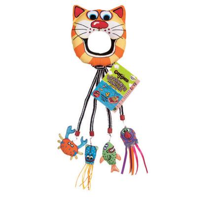 Fat Cat Catfisher Doorknob Hanger Catnip Toy For Cats