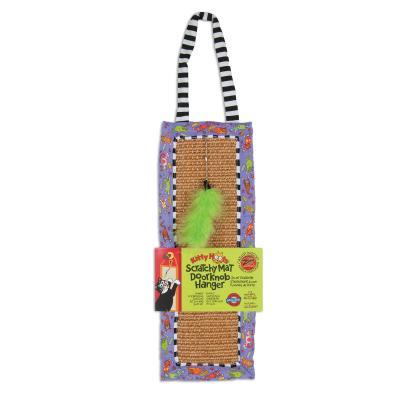 Fat Cat Scratchy Mat Doorknob Hanger Catnip Toy For Cats