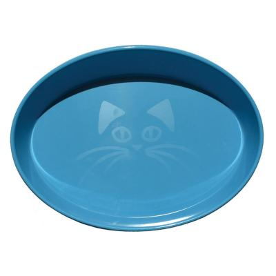 Scream Oval Whisker Bowl Loud Blue For Cats 300ml