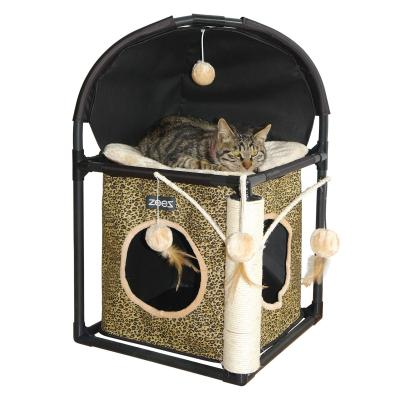 ZeeZ Feline Cube Scratching Post Fun House Toy For Cats