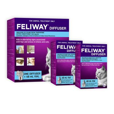 Feliway Getting Started Diffuser Set With Refills 48ml x 2 For Kittens And Cats