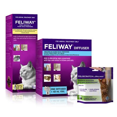 Feliway New Kitten And Cat Diffuser Set With Feliway Spray And Feliscratch