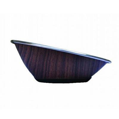 ZeeZ Stainless Steel Hi-Back Pet Bowl 250ml Wood Print For Dogs And Cats