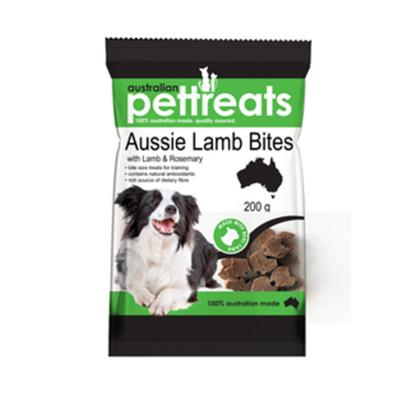 Australian Pettreats Aussie Shape Bites Lamb And Rosemary Treats For Dogs 200gm