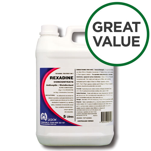 Rexadine Antiseptic And Disinfectant Concentrate 5L