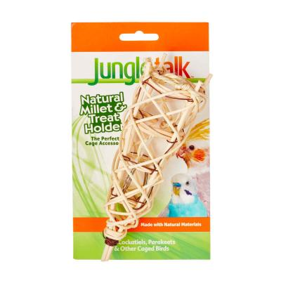 Jungle Talk Natural Millet And Treat Holder For Small Birds