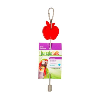 Jungle Talk Garden Kabob Fruit Vegetable Treat Dispenser Large Toy For Birds