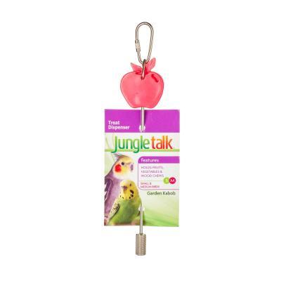 Jungle Talk Garden Kabob Fruit Vegetable Treat Dispenser Small-Medium Toy For Birds