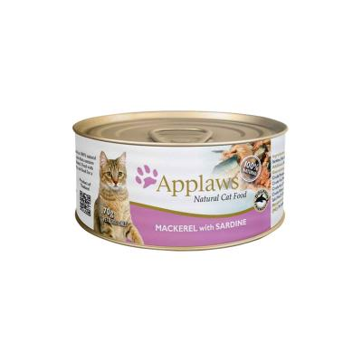 Applaws Mackerel with Sardine Canned Adult Cat Food 70g x 24