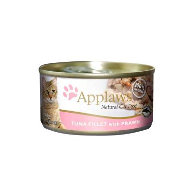 Applaws Tuna Fillet With Prawn Canned Adult Cat Food 70g x 24