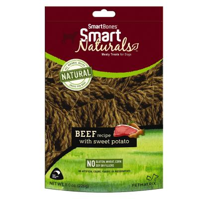Smart Bones Smart Naturals Beef & Sweet Potato Treats For Dogs 226g
