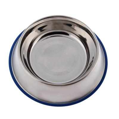 Yours Droolly Stainless Steel Non Skid Rubber Base Bowl 450ml For Dogs Cats Small Animals