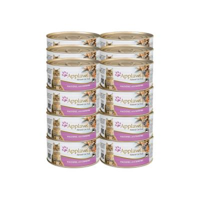 Applaws Mackerel With Sardine Adult Canned Wet Cat Food 70g x 24