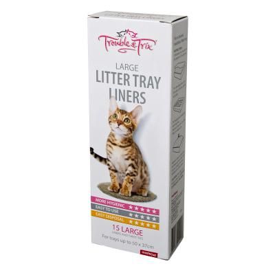 Trouble & Trix Litter Tray Liners Large For Cats 15pk