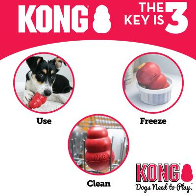 KONG Extreme Rotation System Small Black Rubber Toy For Dogs x3
