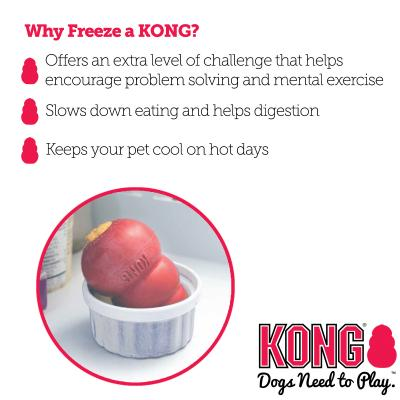 KONG Classic Rotation System Large Red Rubber Toy For Dogs x3