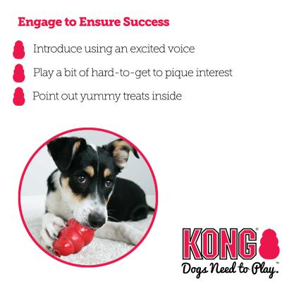 KONG Classic Rotation System Xxlarge Red Rubber Toy For Dogs x3