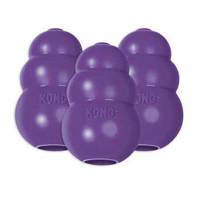 KONG Senior Rotation System Small Purple Rubber Toy For Dogs x3