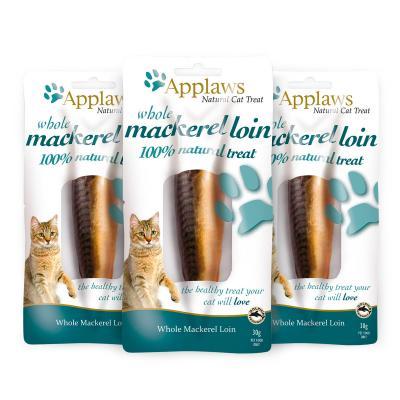 Applaws Whole Mackerel Loin Treats For Cats 30g x 3