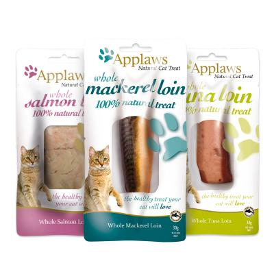 Applaws Whole Mackerel Salmon Tuna Loin Treats For Cats 25-30g x 3