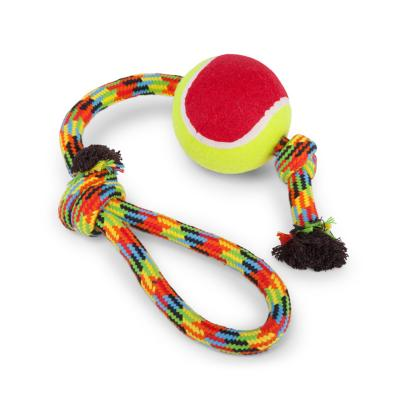 Kazoo Braided Rope Sling Tennis Ball Large Toy For Dogs