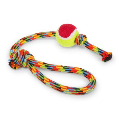 Kazoo Braided Rope Sling Tennis Ball Medium Toy For Dogs