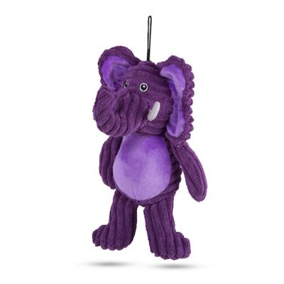 Kazoo Furries Funky Elephant Medium Soft Squeak Toy For Dogs