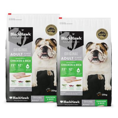 Black Hawk Chicken And Rice Adult Dry Dog Food 40kg