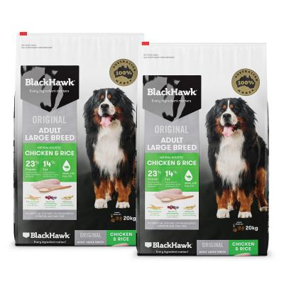 Black Hawk Chicken And Rice Large Breed Adult Dry Dog Food 40kg