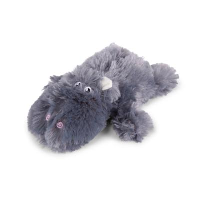 Kazoo Furries Lazy Hippo Small Soft Squeak Toy For Dogs