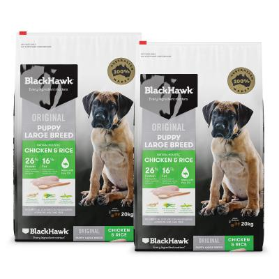 Black Hawk Chicken And Rice Puppy Large Breed Dry Dog Food 40kg