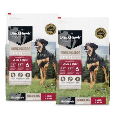 Black Hawk Lamb And Beef Working Dog Adult Dry Dog Food 40kg