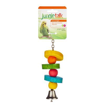 Jungle Talk Jungle Jingle Wood Small-Medium Toy For Birds