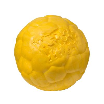 West Paw ZogoFlex Boz Ball Dandelion Yellow Large Toy For Dogs