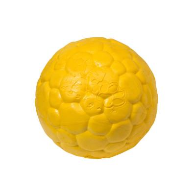 West Paw ZogoFlex Boz Ball Dandelion Yellow Small Toy For Dogs