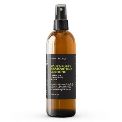 Essential Dog Deodoriser Cologne Lavender Lemon Peel And Clary Sage For Dogs And Puppies 125ml