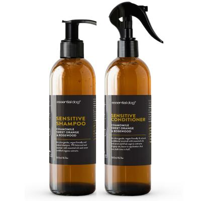 Essential Dog Sensitive Shampoo And Conditioner Combo Pack Chamomile Sweet Orange And Rosewood For Dogs 500ml