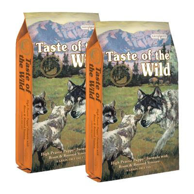 Taste of the Wild Grain Free High Prairie Roasted Bison And Venison Puppy Dry Dog Food 26kg